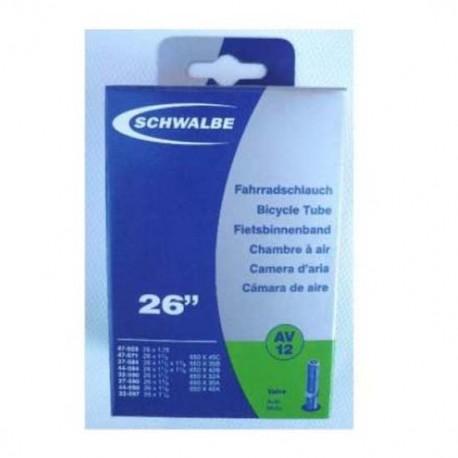 Cámara de aire SCHWALBE AV15 700x18/28 Schrader 40mm
