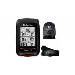 Ciclocomputador GPS Bryton Rider 310 T HRM + CAD
