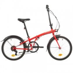 Bicicleta Plegable B'TWIN TILT 120 Rojo