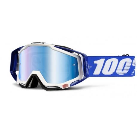 Máscara 100% Racecraft Cobalt Azul/Blanco