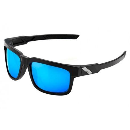 Gafas 100% Type S Negro Lentes HiPER Miroir Azul