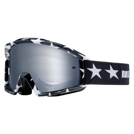 Máscara FOX Main Goggle Stripe Negro/Blanco