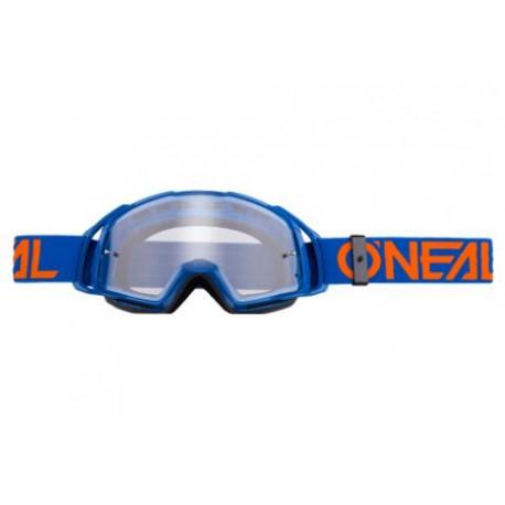 Máscara O'NEAL B-20 Transparent Azul/Naranja