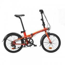Bicicleta Plegable B'TWIN TILT 500 20'' Naranja Fluor