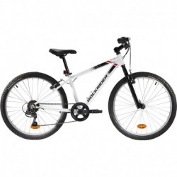 Bicicleta Infantil ROCKRIDER ST 100 24'' 9-12 años Blanco