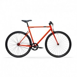 Bicicleta de Ciudad ELOPS Single Speed 500 Naranja