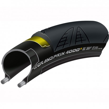 Cubierta CONTINENTAL GRAND PRIX 4000S II 700x25c Flexible Negro